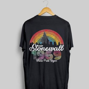 Stonewall Riots 50th Rainbow Flag shirt