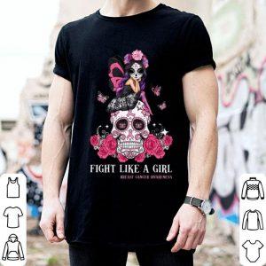 Sugar Skull Fight like a girl Breast Cancer Awareness shirt