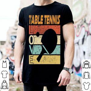 Table Tennis Love Retro Vintage shirt