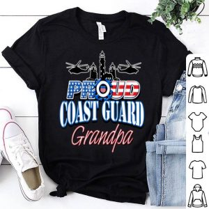USA Proud Coast Guard Grandpa USA Flag Military shirt