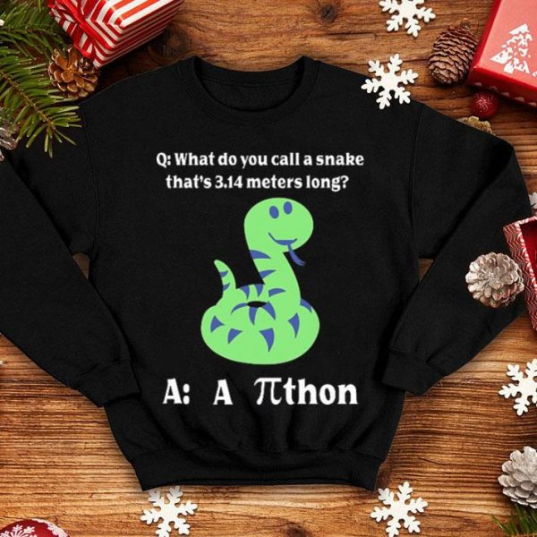 What do you call a snake that's 3.14 meters long athon shirt