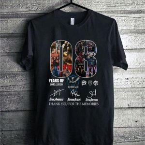 08 years of The Shield 2012-2020 signatures shirt