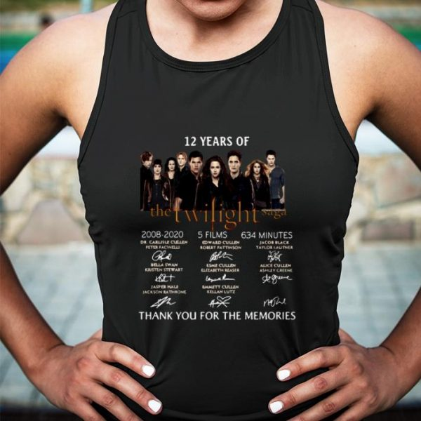 12 Years Of The Twilight Saga thank you for the memories shirt