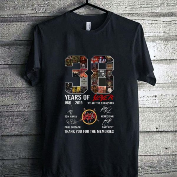 38 Years Of Slayer we are the champions thank you for the memories shirt