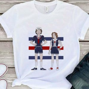 AHOY Steve and Robin cartoon Stranger Things 3 shirt