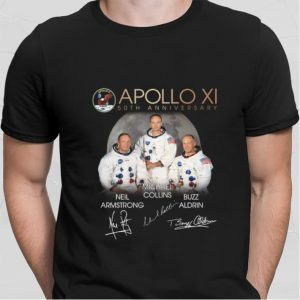 Apollo XI 50th Anniversary signatures Neil Armstrong shirt