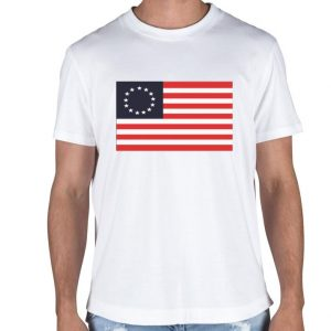 Betsy Ross 13 star flag shirt