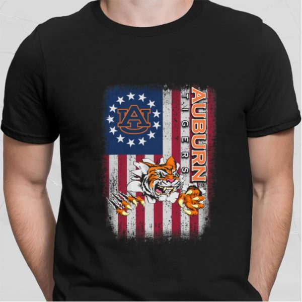 Betsy Ross flag Auburn Tigers shirt