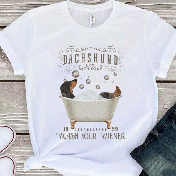 Dachshund & co bath soap 19 established 59 wash your wiener shirt