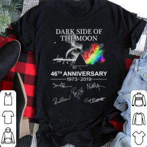 Dark side of the moon 46th anniversary signatures Pink Floyd shirt