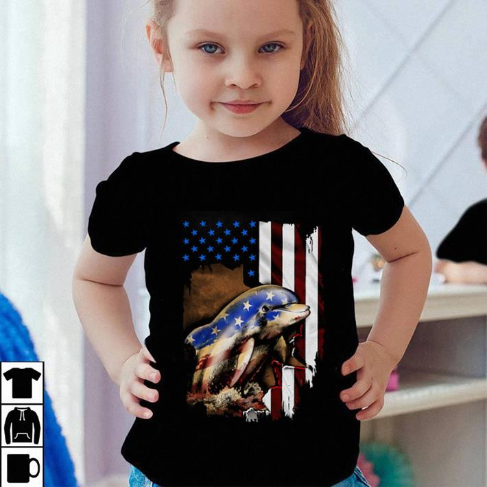 Dolphin American flag 4th of july Independence day shirt 4 - Dolphin American flag 4th of july Independence day shirt