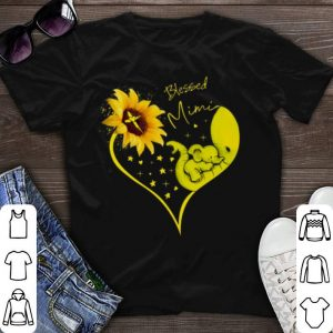 Elephant heart sunflower Blessed Mimi shirt