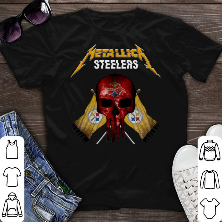 new styles ebec8 efce2 Metallic Pittsburgh Steelers punisher shirt sweater