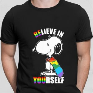 Snoopy believe in yourself LGBT shirt
