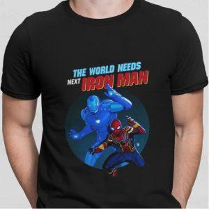 Spider Man The World Needs Next Iron Man Marvel shirt sweater