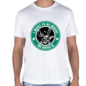 Starbucks I want to be where the Coffee is Stitch shirt