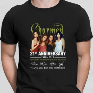 Charmed 21st Anniversary 1998-2019 Signatures Thank You For The shirt 1