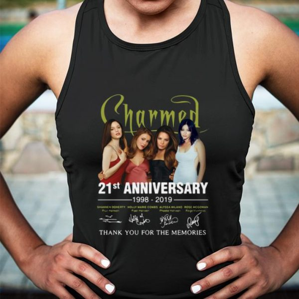 Charmed 21st Anniversary 1998-2019 Signatures Thank You For The shirt
