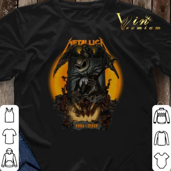 Halloween Jack Skellington Metallica 1981-2019 shirt