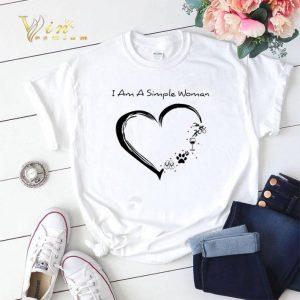 I am a simple woman love flip flop paw dog wine glass Triathlon shirt sweater