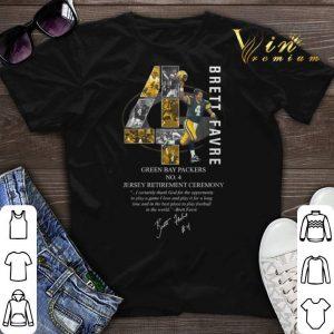 Signature 4 Brett Favre Green Bay Packers shirt