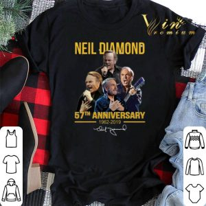 Signature Neil Diamond 57th anniversary 1962-2019 shirt