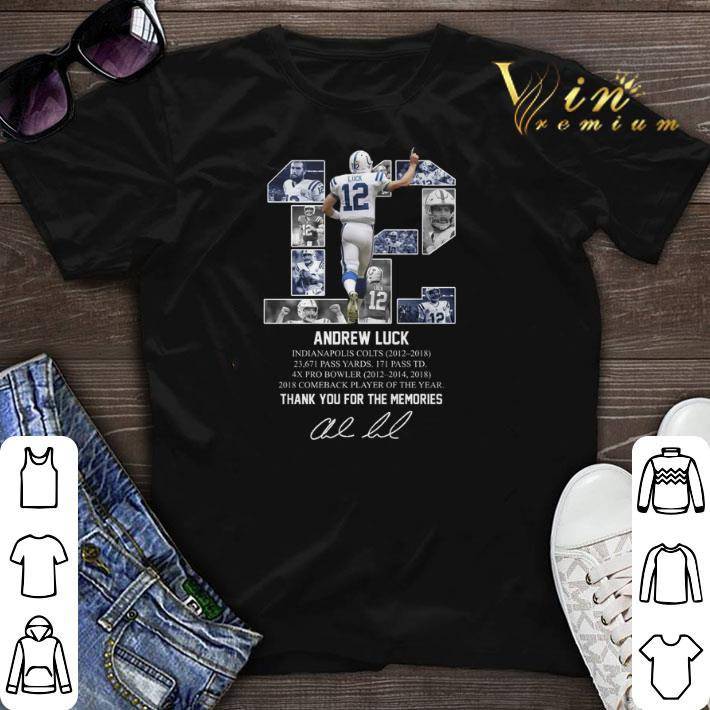 purchase cheap ba10b 0685c Thank you for the memories 12 Andrew Luck Indianapolis Colts shirt