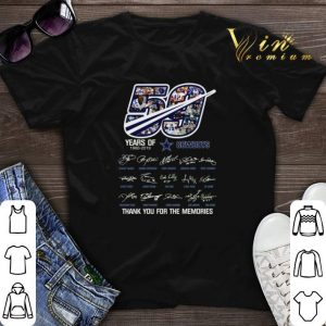 Thank you for the memories 50 years of Dallas Cowboys 1960-2019 shirt