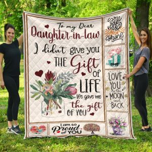 To my dear daughter-in-law i didn't give the gift quilt blanket