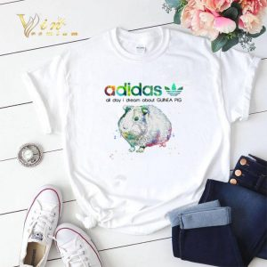 adidas all day I dream about Guinea Pig Flower shirt sweater