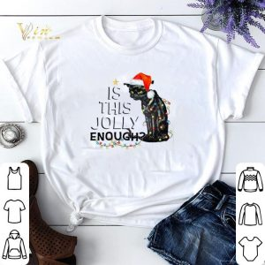 Black cat is this jolly enough Christmas Lights shirt sweater