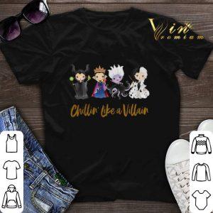 Halloween Maleficent Chillin' Like A Villain Disney Halloween shirt