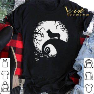 Halloween Shiba Inu dog and moon shirt sweater