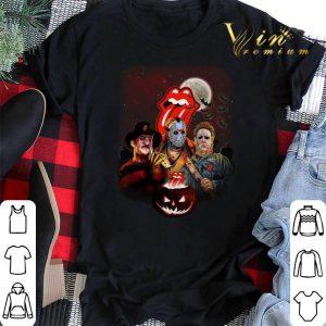 Halloween The Rolling Stones horror film characters pumpkin shirt