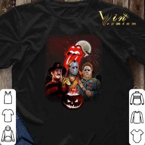 Halloween The Rolling Stones horror film characters pumpkin shirt 2