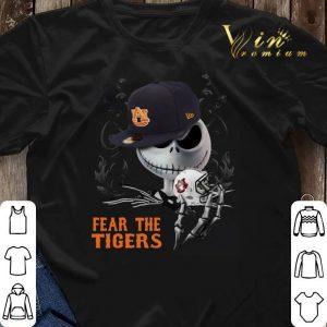 Jack Skellington Fear the Auburn Tigers shirt sweater 2