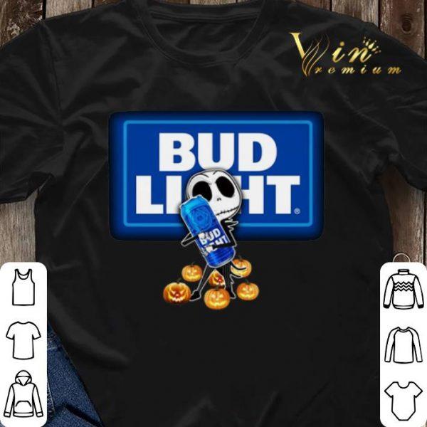 Jack Skellington hug Bud Light pumpkins shirt sweater
