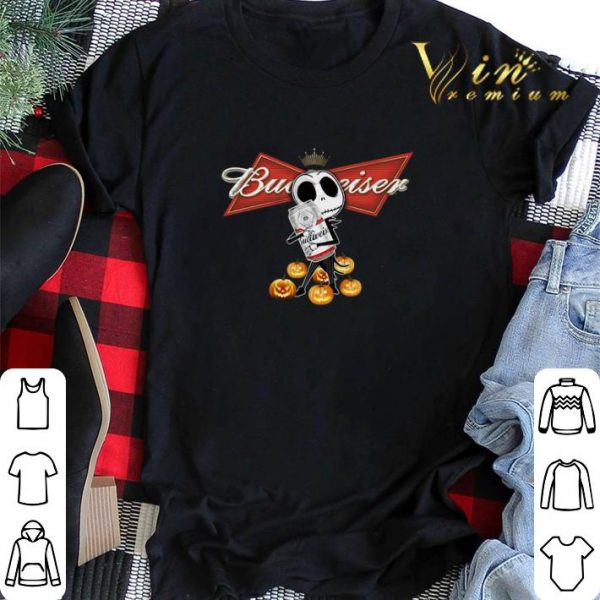 Jack Skellington hug Budweiser pumpkins shirt sweater