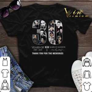 Thank you for the memories 30 Years of Marilyn Manson 1989-2019 shirt