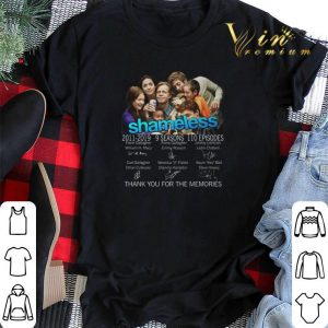 Thank you for the memories Shameless 2011-2019 signatures shirt
