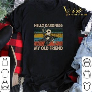 Vintage Jack Skellington hello darkness my old friend shirt