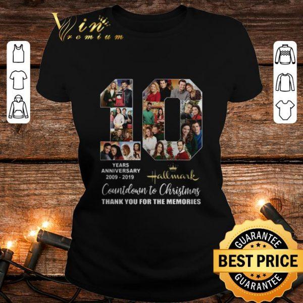 10 years anniversary 2009-2019 Hallmark Countdown To Christmas shirt