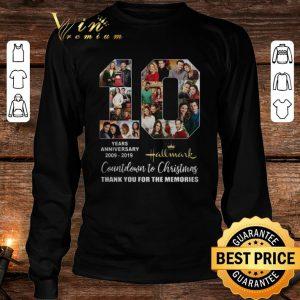 10 years anniversary 2009-2019 Hallmark Countdown To Christmas shirt 2