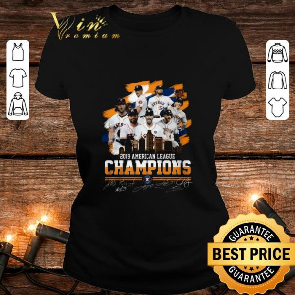2019 American league champions Houston Astros signatures shirt