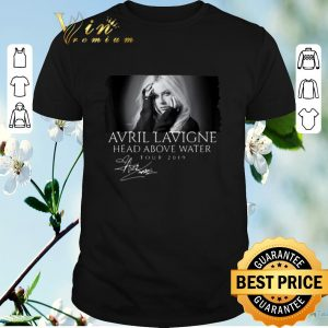 Awesome Signature Avril Lavigne Head Above Water Tour 2019 shirt
