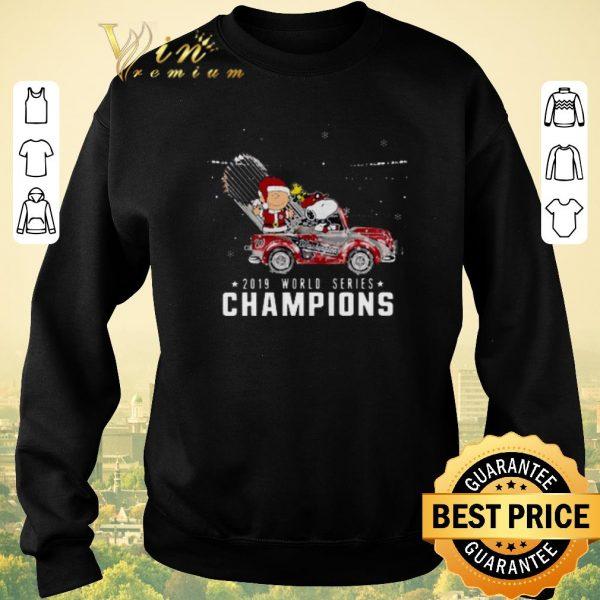 Awesome Snoopy Charlie Brown Washington Nationals 2019 Christmas shirt sweater