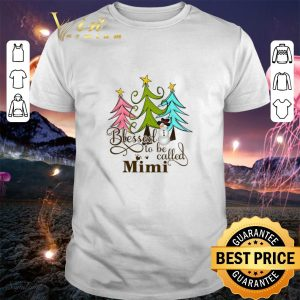Blessed to be called mimi Christmas shirt