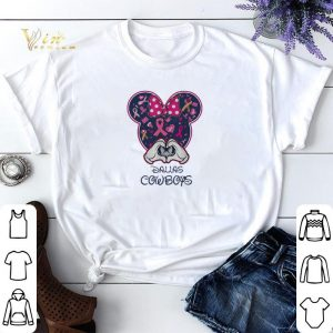 Breast Cancer Mickey Love Dallas Cowboys shirt sweater