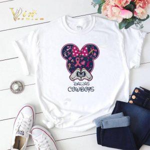 Breast Cancer Mickey Love Dallas Cowboys shirt sweater