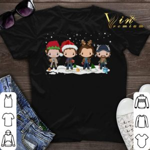 Christmas Supernatural chibi characters cartoon shirt